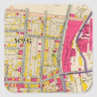 Yonkers New York Atlas Square Sticker