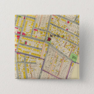 Yonkers New York Map 15 Cm Square Badge