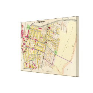 Yonkers New York Map Canvas Print