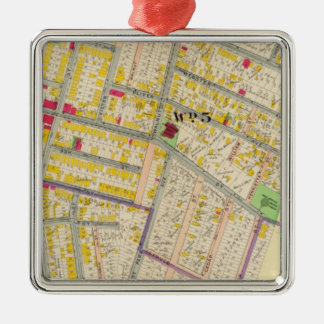 Yonkers New York Map Christmas Ornament