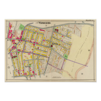 Yonkers New York Map Poster