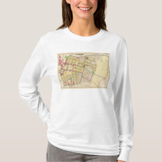 Yonkers New York Map T-Shirt