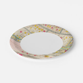 Yonkers NY Map 7 Inch Paper Plate
