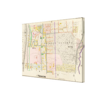 Yonkers NY Map Atlas Canvas Print