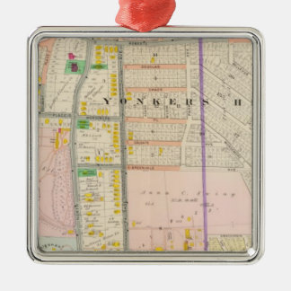 Yonkers NY Map Atlas Christmas Ornament