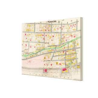 Yonkers NY Map Canvas Print