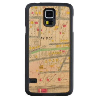 Yonkers NY Map Carved Maple Galaxy S5 Case