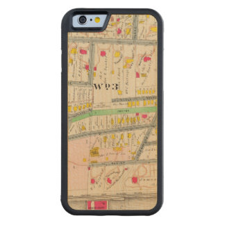 Yonkers NY Map Carved Maple iPhone 6 Bumper Case