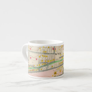 Yonkers NY Map Espresso Cup