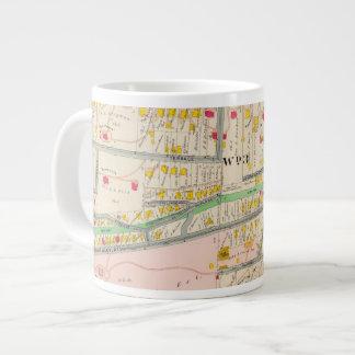 Yonkers NY Map Large Coffee Mug