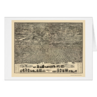 Yonkers, NY Panoramic Map - 1899 Card