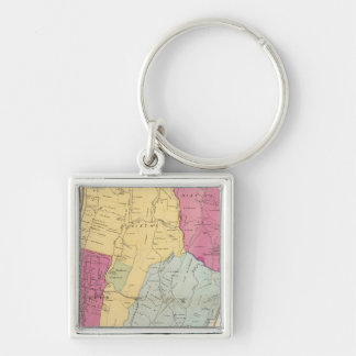 Yonkers, Town Silver-Colored Square Key Ring