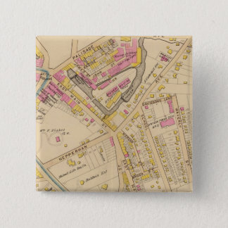 Yonkers wards 1-3, New York 15 Cm Square Badge