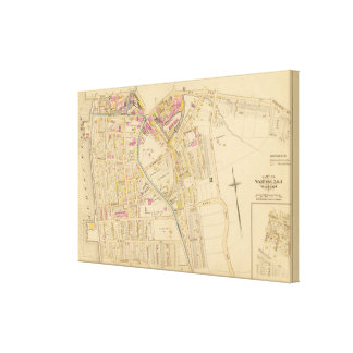 Yonkers wards 1-3, New York Canvas Print