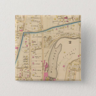 Yonkers wards 2-3, New York 15 Cm Square Badge