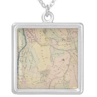 Yonkers wards 3-4, New York 2 Silver Plated Necklace