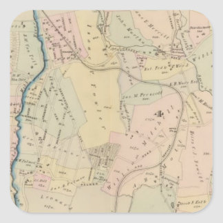 Yonkers wards 3-4, New York 2 Square Sticker