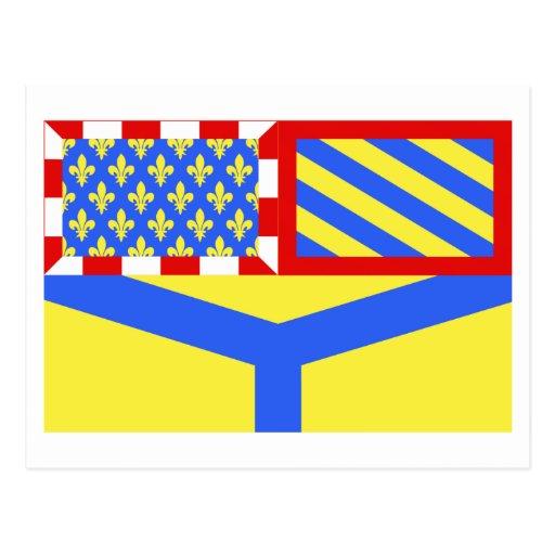 Yonne flag post cards
