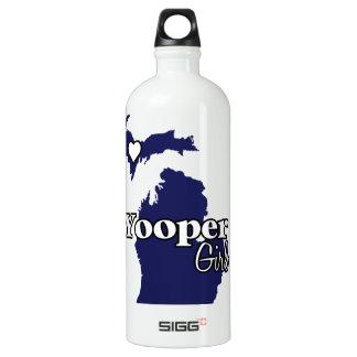 Yooper Girl Upper Peninsula Michigan Navy Heart Water Bottle