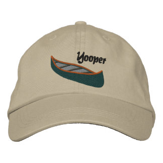 Yoopers Love Canoes Embroidered Baseball Caps