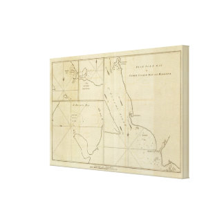 York Bay, Three Island Bay, Elizabeth Bay, Chile Canvas Print