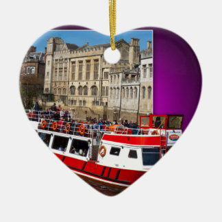 York Boat out of Bounds Ceramic Heart Decoration