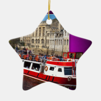 York Boat out of Bounds Ceramic Star Decoration