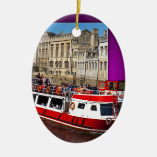 York Boat out of Bounds Christmas Ornament