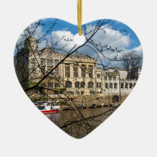 York City Guildhall river Ouse Ceramic Heart Decoration