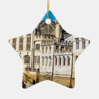 York City Guildhall river Ouse Christmas Ornament