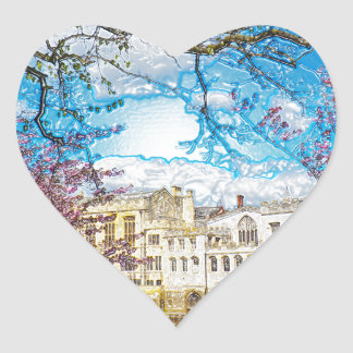 York City Guildhall river Ouse Heart Sticker