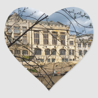 York City Guildhall river Ouse Heart Stickers