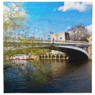 York City Lendal bridge with textured background Napkin