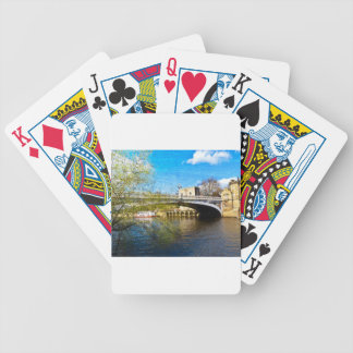 York City Lendal bridge with textured background Poker Deck
