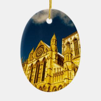 York city Minster enhanced Ceramic Oval Decoration