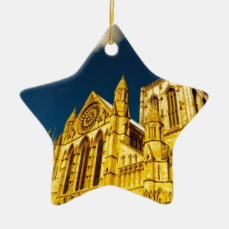 York city Minster enhanced Ceramic Star Decoration