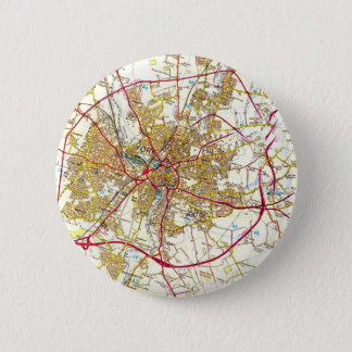 York City Old Map Button Badge