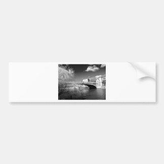 York City river landscape Bumper Sticker