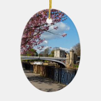 York City river landscape Christmas Ornament