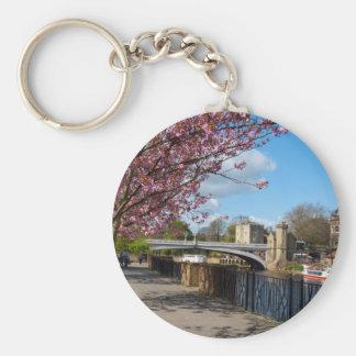 York City river landscape Key Chain