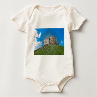 York, Cliffords tower in plastic Baby Bodysuit