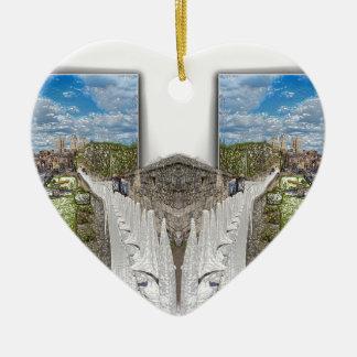 York. Double take. Ceramic Heart Decoration