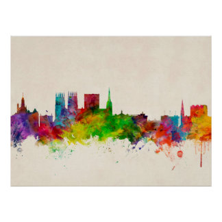 York England Skyline Print