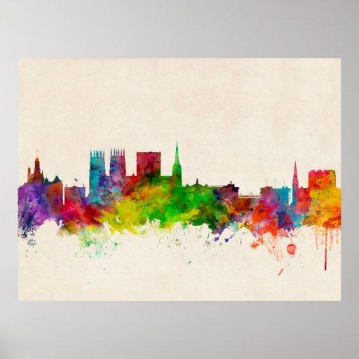 York England Skyline Poster
