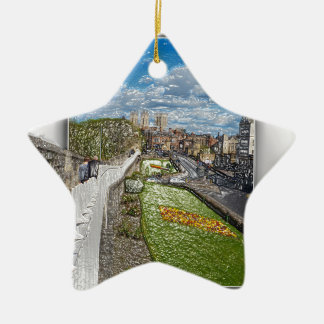 York from the city wall ceramic star decoration