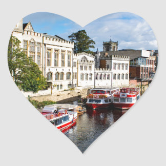 York Guildhall and river Ouse Heart Sticker