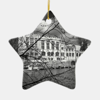 York Guildhall on the river Ouse Christmas Ornament