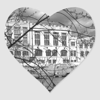 York Guildhall on the river Ouse Heart Sticker