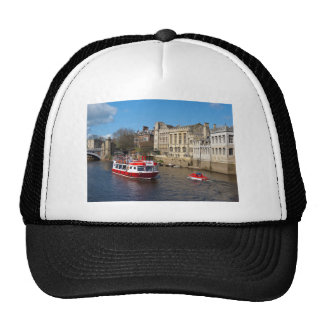 York Guildhall with river boat Cap