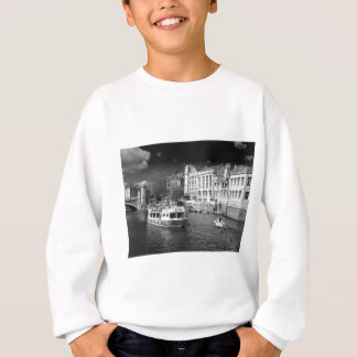 York Guildhall with river boat Sweatshirt